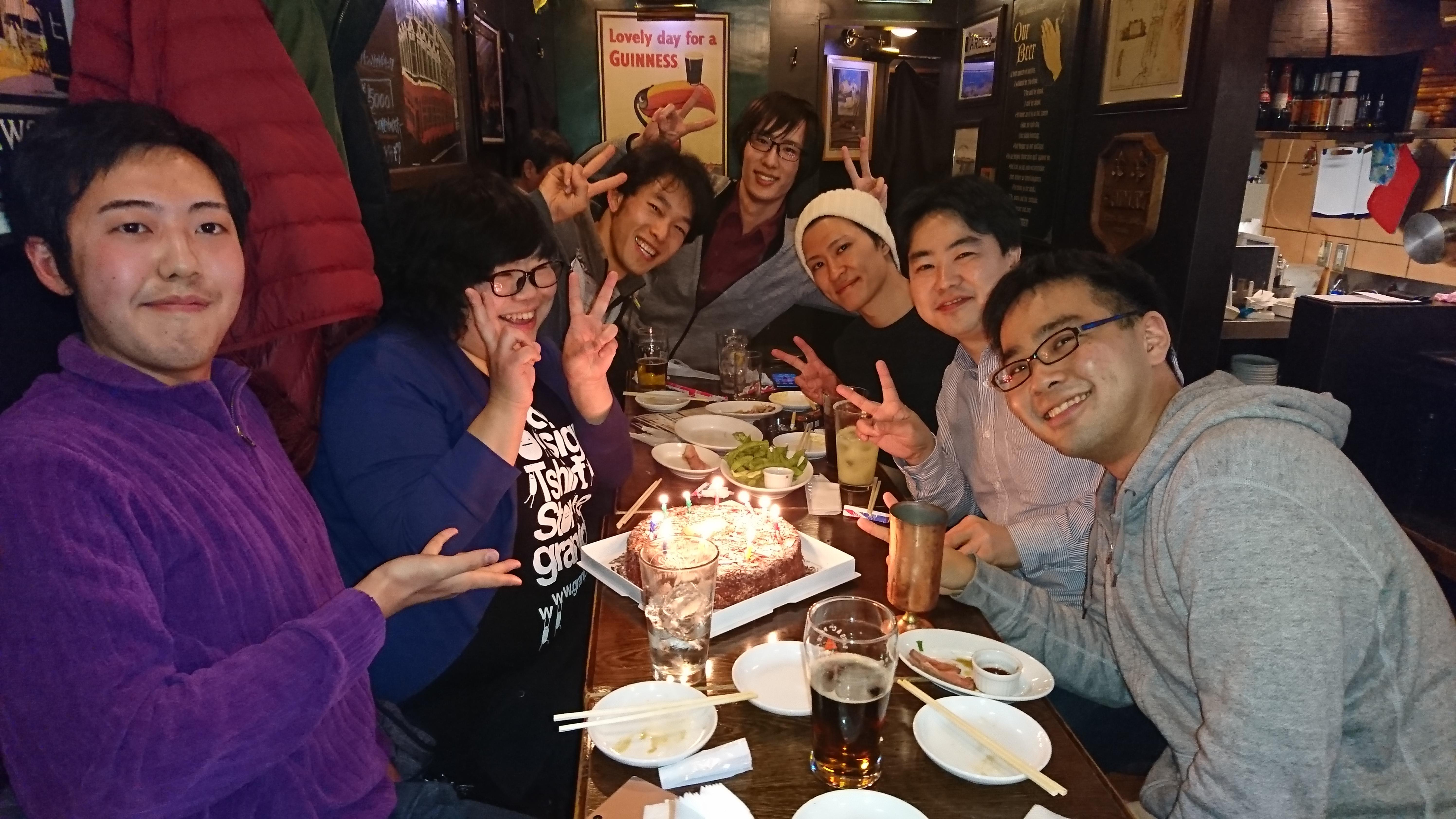 毎年春秋のタイブレイク恒例イベント、商品売場勉強会後のお食事会!今回はお誕生日も同時にお祝いしました!